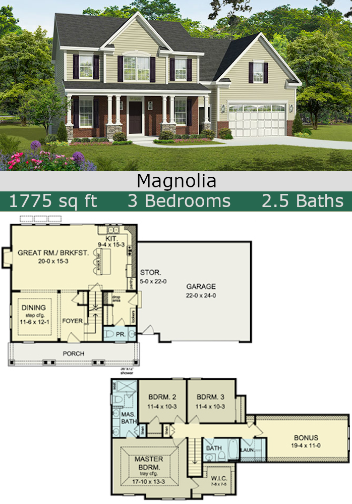 Magnolia 3 bedroom floor plan